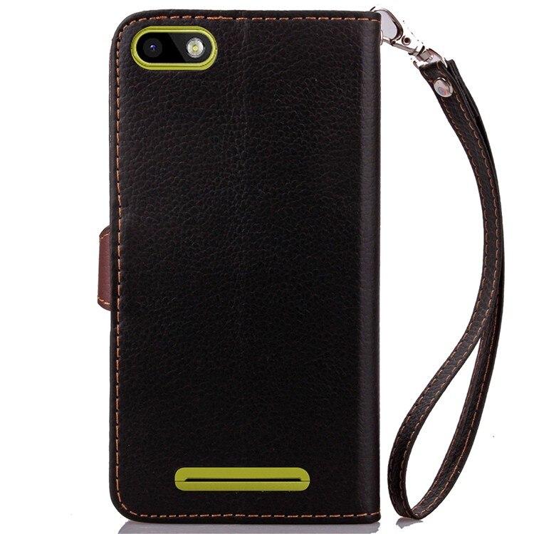 06b275c01 Hoja de corchete cartera Flip Funda de cuero con ranuras para tarjetas y  soporte para Bq BQS-5020 huelga/5 pulgadas Bolsa suave cubierta