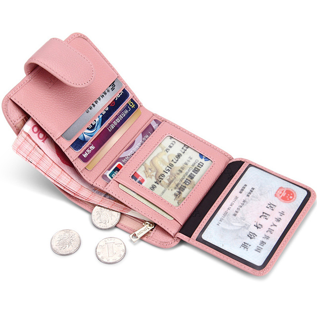 Stylish Short Wallet for Women Purse Genuine Leather Fashion Women Wallets  Ladies Small Roomy Wallet Women ae1b3fe2735