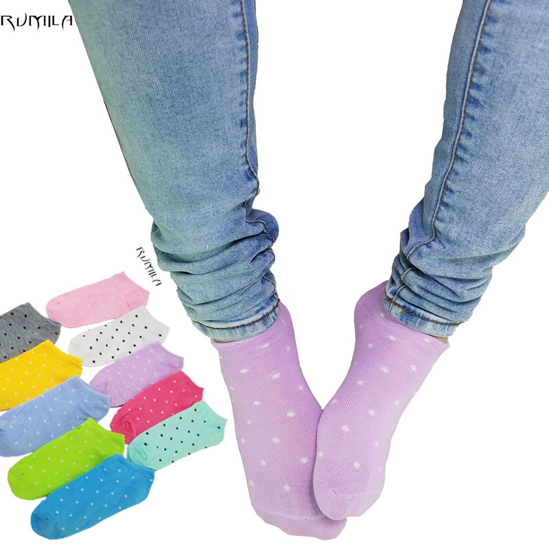 Warm Comfortable Cotton Bamboo Fiber Girl Women's Socks Ankle Low Female Invisible  Color Girl Boy Hosier1pair=2pcs WS06