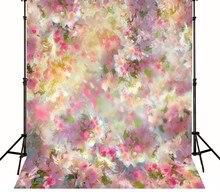 Rosa estética Flores recém-nascidos backdrop Computador impresso contexto da Fotografia Fundos pano de Vinil de Alta qualidade