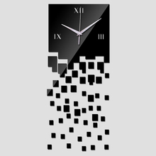 Modern wall clocks mirror luxury design real diy watch 3d crystal clock sticker living room decor free shipping