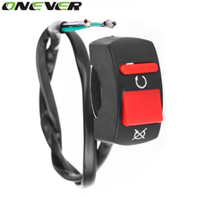 Onever Universal Handlebar Motorcycle Switch ON-OFF Button Switch For U5 U7 U2 HeadLight LED Angel Eyes Light Spotlight Switch