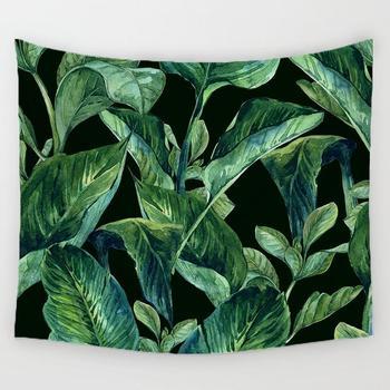 여름 잎 태피스트리 벽 교수형