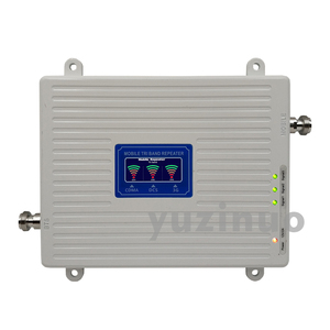 Image 2 - 65dB 2G 3G 4G Tri Band Signal Booster CDMA 850+DCS/LTE 1800+WCDMA/UMTS 2100 Cell Phone Signal Repeater Mobile Cellular Amplifier