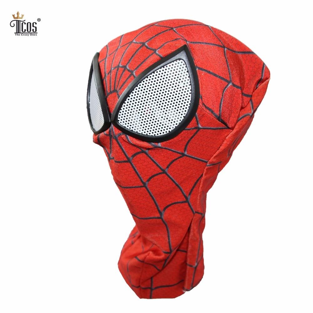 3D Spiderman Mask Linser Vuxen Unisex Halloween Tillbehör Masque - Maskeradkläder och utklädnad - Foto 2