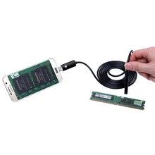 Черный 2in1 Эндоскопа Android и ПК USB Инспекции Мини Камеры 8 ММ 720 P HD Бороскоп Видео Камера 6 Регулируемая LED Ночного Видения spy