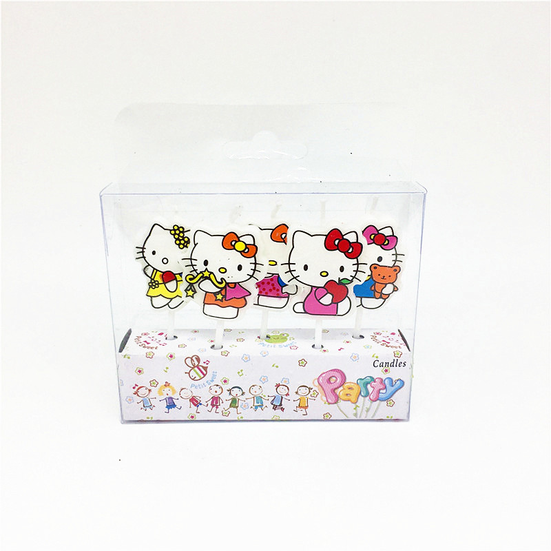Imported From Abroad 5pcs/pack Hello Kitty Happy Birthday Party Candles Decoration Kids Favor Baby Shower Mickey Cake Toppers Supplies Home & Garden Festive & Party Supplies