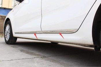 4 Stuks Abs Chrome Car Side Deur Cover Trim Bescherming Sticker Voor Kia K2 2017 Auto Styling Accessoires