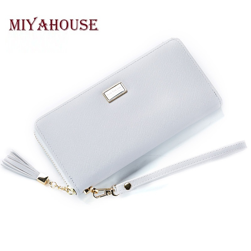 Miyahouse Female Long Clutch Wallets Tassel Zipper Wristlets For Women Card Holders Cell Phone Wallet Fashion Leather Bags Сотовый телефон