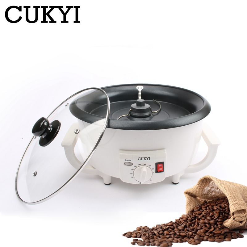 Electric Coffee Beans Roaster Machine Roasting Dried Peanut Non-stick Coating Baking Tool Household Grain Drying 110V 220V EU US