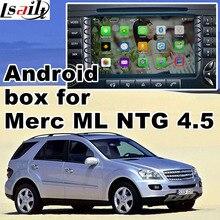 Android 6.0 GPS caixa de navegação para Mercedes benz ML classe W166 NTG 4.5 caixa de interface de vídeo waze yandex igo navi caixa