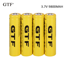 4pcs 3.7V 9800mah 18650 Battery Li-ion Rechargeable Battery LED Flashlight Torch Emergency Lighting Portable Devices Tools стоимость