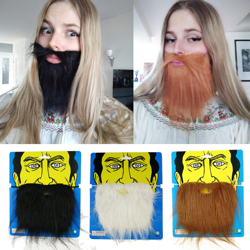 Cyuan 1set Black Creative Funny Fake Mustache Halloween Cosplay Party Beards Decoration Pirate Party Mischief Decor Kids Favor