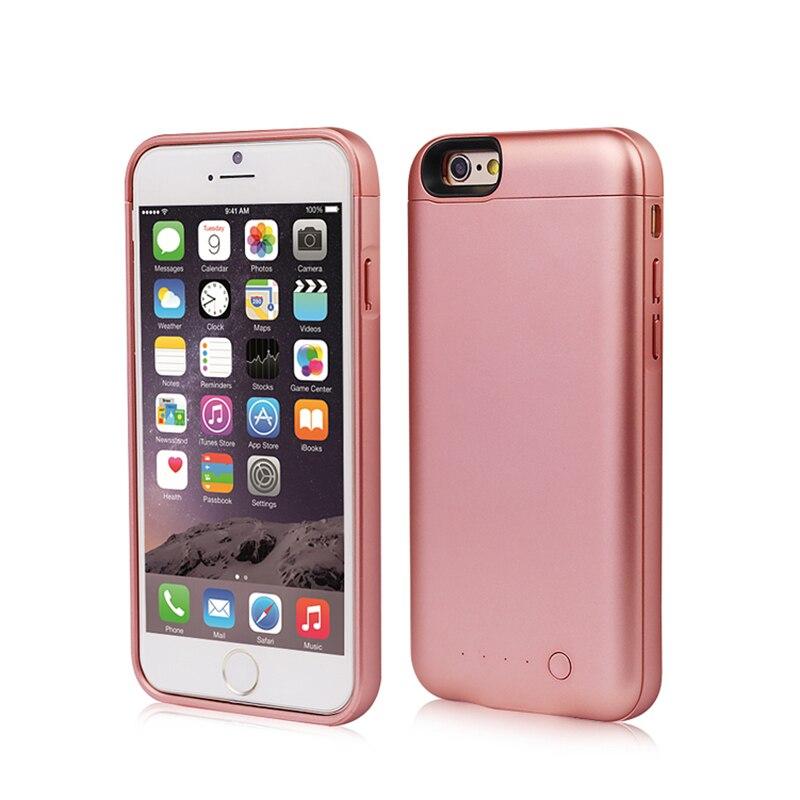 bilder für Für iPhone 6/6 s Ladegerät-fall Fall Powerbanks Verlängerte Batterie Externe Unterstützungsbatterie 5000 mAh Max 1A Entladung