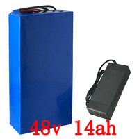 48V 1000W battery 48V 15AH electric bike battery 48V 14AH Lithium battery pack with 30A BMS and 54.6V 2A charger free shipping