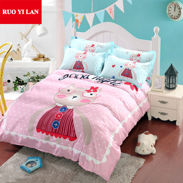 Good Night Kitty 100 Cotton Bedding Duvet Cover Set For 1 5m 8m