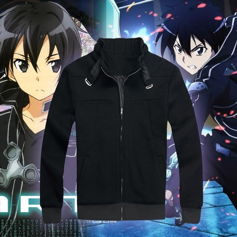 NEW Sao Sword Art Online Kirito Kazuto Kirigaya Coat Cosplay Costume Jacket