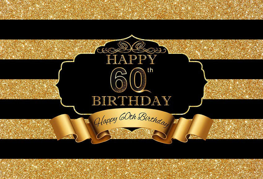 60TH SIXTIETH BLACK PERSONALISED BIRTHDAY PARTY BANNER BACKDROP BACKGROUND