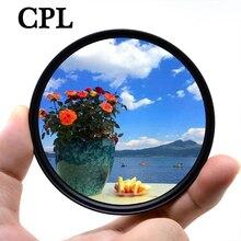 KnightX polaryzacyjny CPL filtr do aparatów Canon Nikon 60d d80 200d 500d akcesoria d3300 2000d 49mm 52mm 55mm 58mm 62mm 67mm 72mm 77mm