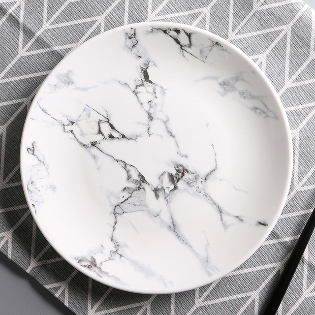 new arrival 8 inch dia porcelain marble dining set Nordic ceramic home dinnerware Western porcelain dinner & new arrival 8 inch dia porcelain marble dining set Nordic ceramic ...