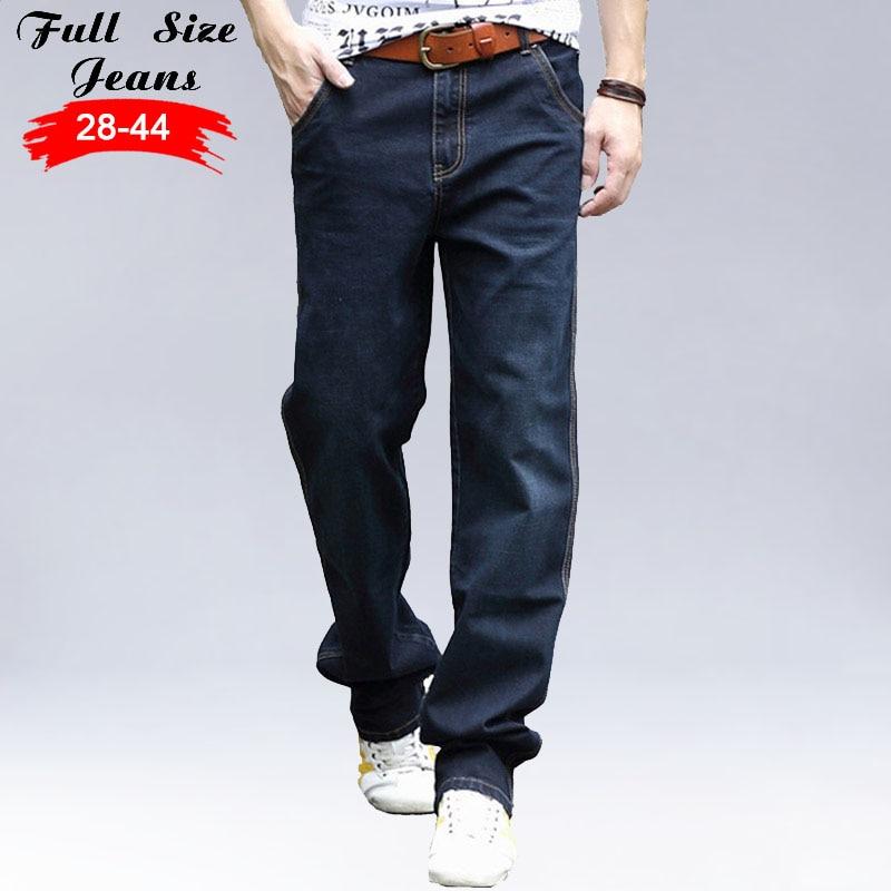 2017 New Designer Plus Size Loose Jeans 42 44 46 5xl 6xl 7xl Wide Leg Dark Blue Casual Denim Jeans Large Size Harem Jeans Men hot new large size jeans fashion loose jeans hip hop casual jeans wide leg jeans page 4