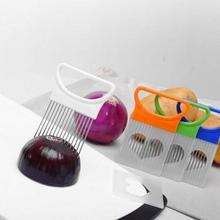 Лукорезка из нержавеющей стали многофункциональный держатель для овощей помидорорезка игла для мяса для кухонных гаджетов аксессуары