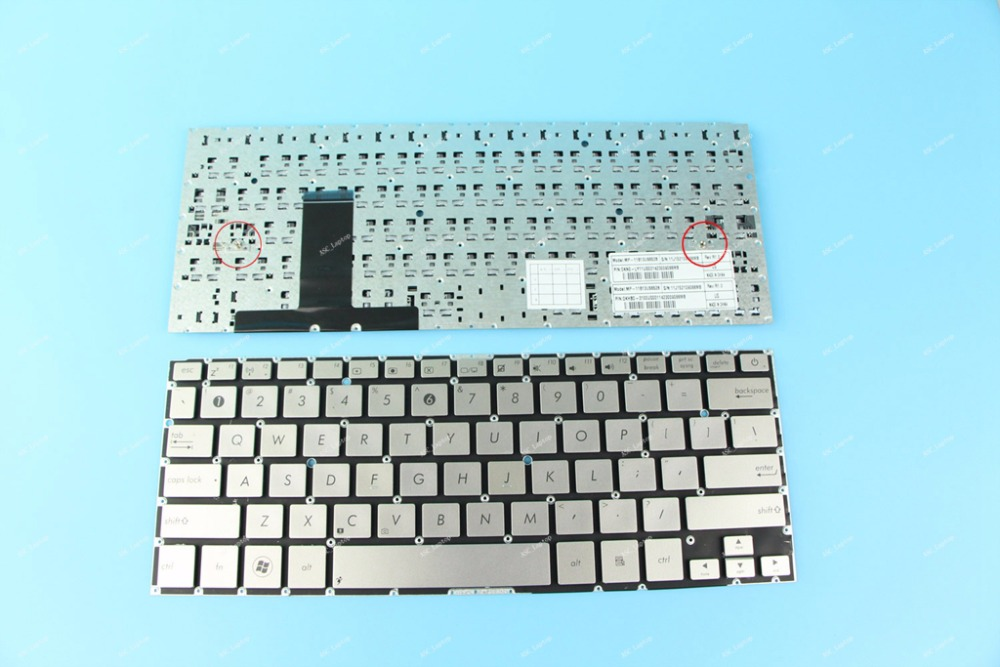 Genuine NEW ASUS UX31 UX31A UX31E Laptop Keyboard US Layout No Frame Silver