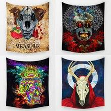 Comwarm Indio Hippie de La Mezcla Colorida Del Diseño Del Cráneo Patrón Manía de Villano Tapiz Colgante de Pared Mural para Aula Decorativos