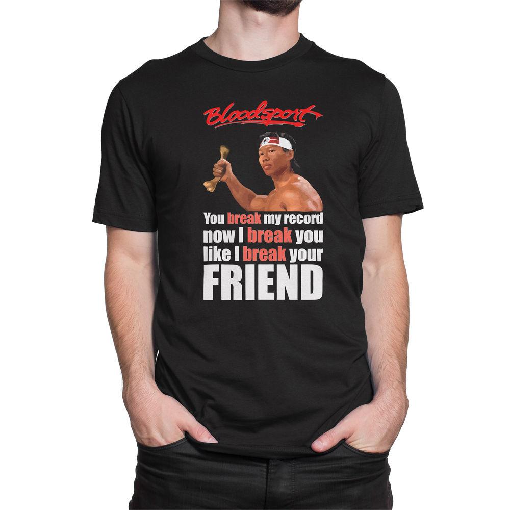 Shirt design brands - Funny Casual Brand Shirts Top Bloodsport Chongli Quote Custom Design Men S Graphic Cotton T Shirt