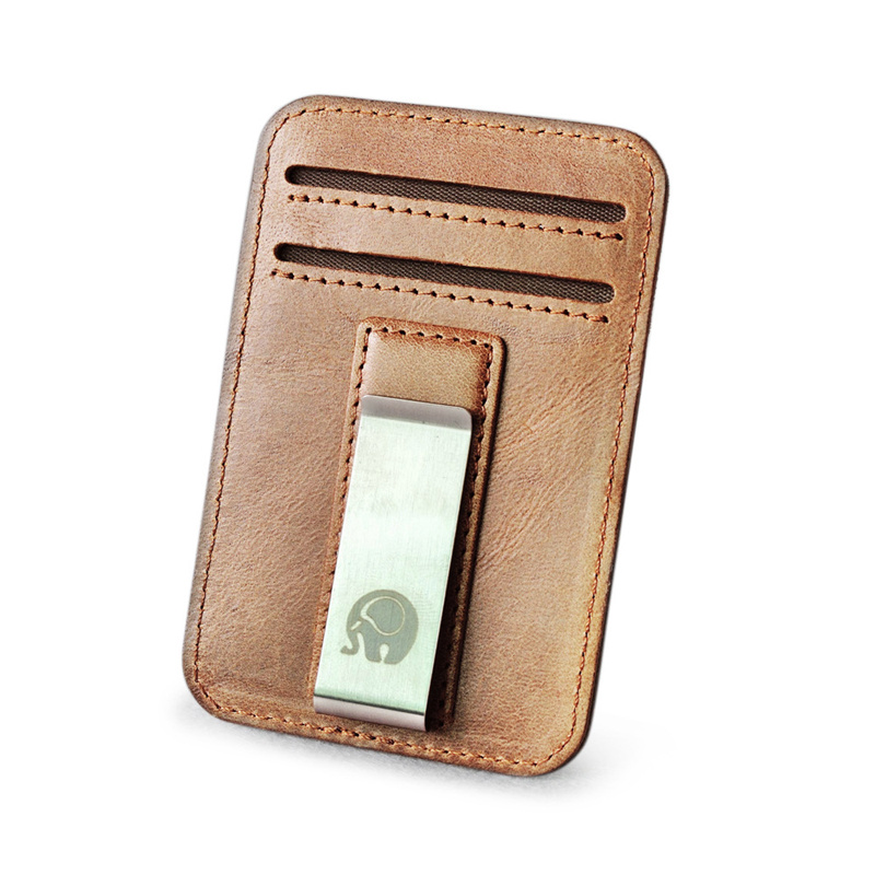 Wholesale Genuine Leather Money Clip Metal Card Pack Wallet Thin Bills Cash Clips Clamp For Money Thin Billfold Holder Cheap NEW