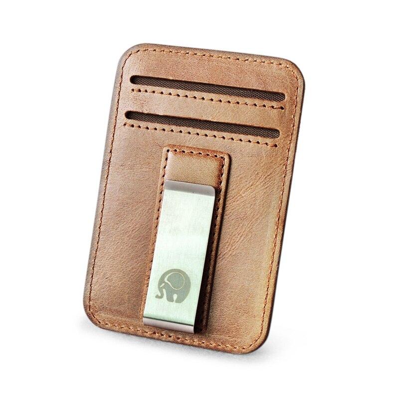 1 Slim Metal USA Ship Money Clip Pocket Wallet Money Card Holder New Bulk