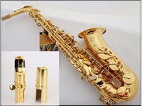 New High quality Hot sale Saxophone Alto engraved brass SELMER 802 Model saxofone Gold Sax musical instruments professional sax