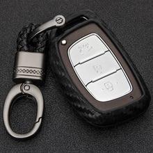 Carbon Fiber Remote Key Fob Cover Case Protection For Hyundai Elantra Tucson Mistra Verna Sonata IX25 IX35 Smart Key Case Shell цена 2017