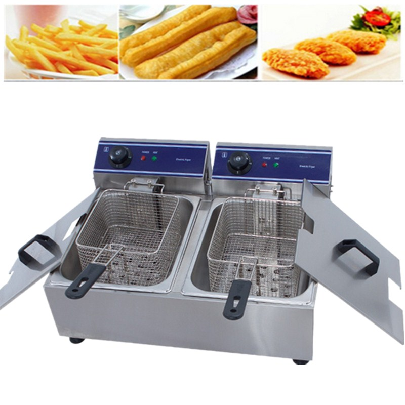 Best Price Small Business Electric Deep Fryer For Fried Chicken Commercial Deep Fryer Machine For Sale thick single cylinder electric fryer commercial electric fryer fried chicken oven fries fried squid machine dedicated