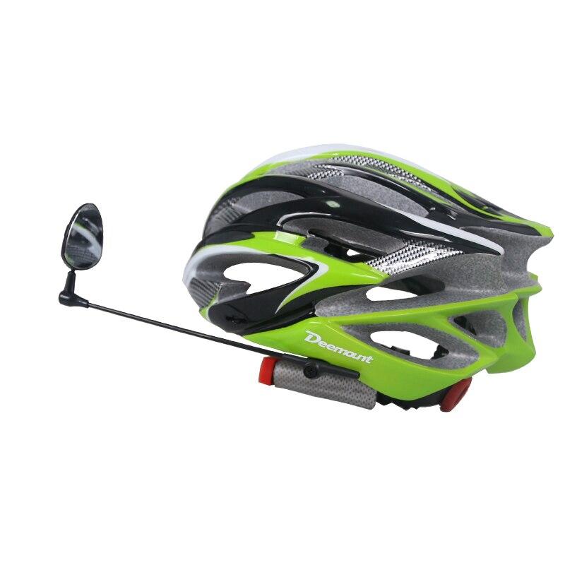Deemount Ciclismo casco espejo retrovisor posterior reloj percepción giratoria 360 grados longitud ajustable Seguridad tapa izquierda derecha