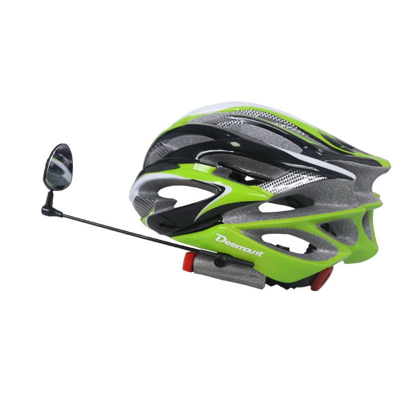 Deemount Cycling Helmet Mirror Rear Back View Watch Perception 360 Degree Rotatable Length Adjustable Safety Cap Left Right