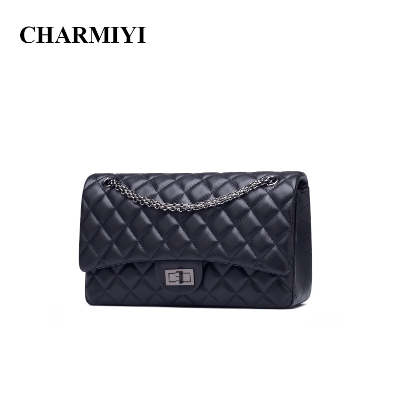 CHARMIYI High Quality Leather Women Shoulder bag Famous Brands Designer Women Messenger bags Fashion Chain Ladies Crossbody Bags miwind f graffiti istitching chain messenger chain bag women s premium lady oblique crossbody shoulder bags famous brands c c