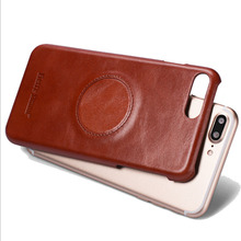 FIERRE SHANN Cowhide Back case For iphone X case iphone 8 case Full cover For iphone 6s 7 plus 8 plus Phone Genuine Leather Bag