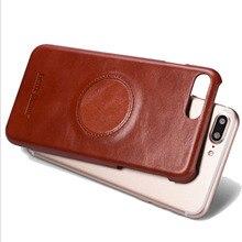 hot deal buy fierre shann cowhide back case for iphone x case iphone 8 case full cover for iphone 6s 7 plus 8 plus phone genuine leather bag