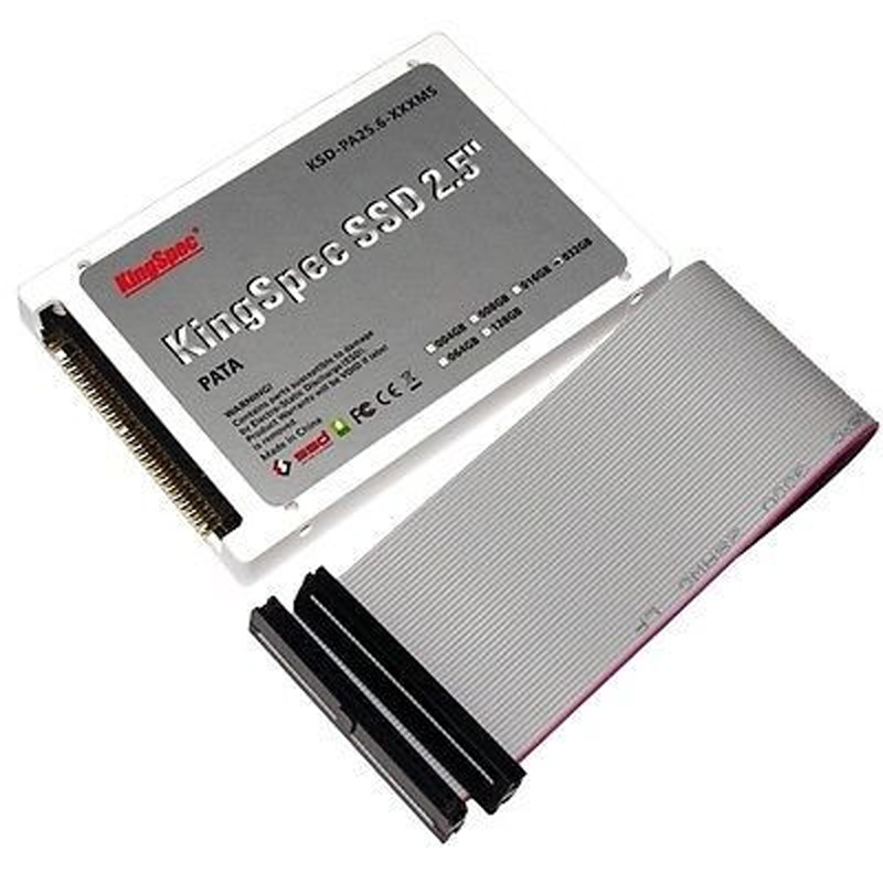 Kingspec plastic 2.5 PATA 44pin ide SSD 64GB MLC Flash 4-Channel Solid State Disk for Notebook Desktop HDD Hard Drive IDE 60GB sd memory card to ide 44 pin hard disk adapter creates a ssd solid state drive