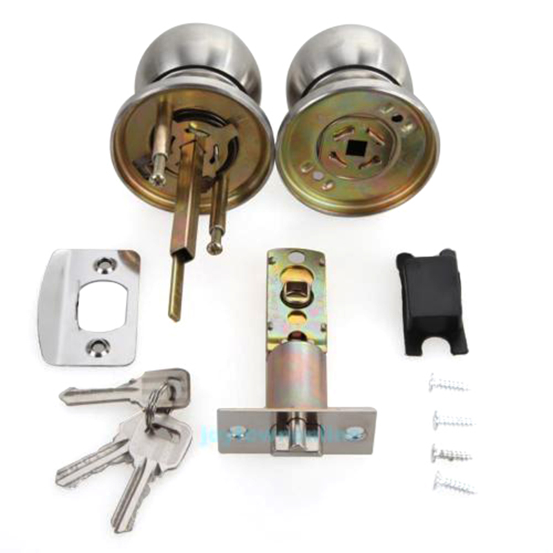Round Door Knobs Rotation Lock Knobset Handle Stainless Steel Door Knob With KeyRound Door Knobs Rotation Lock Knobset Handle Stainless Steel Door Knob With Key