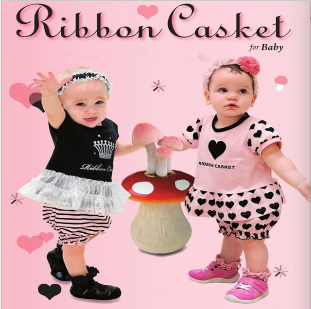 Free Shipping 2013 New Arrival Girl Baby Clothes Summer Wear Fashion Two-Piece Clothing Set Short Sleeve T-Shirt+ Pants