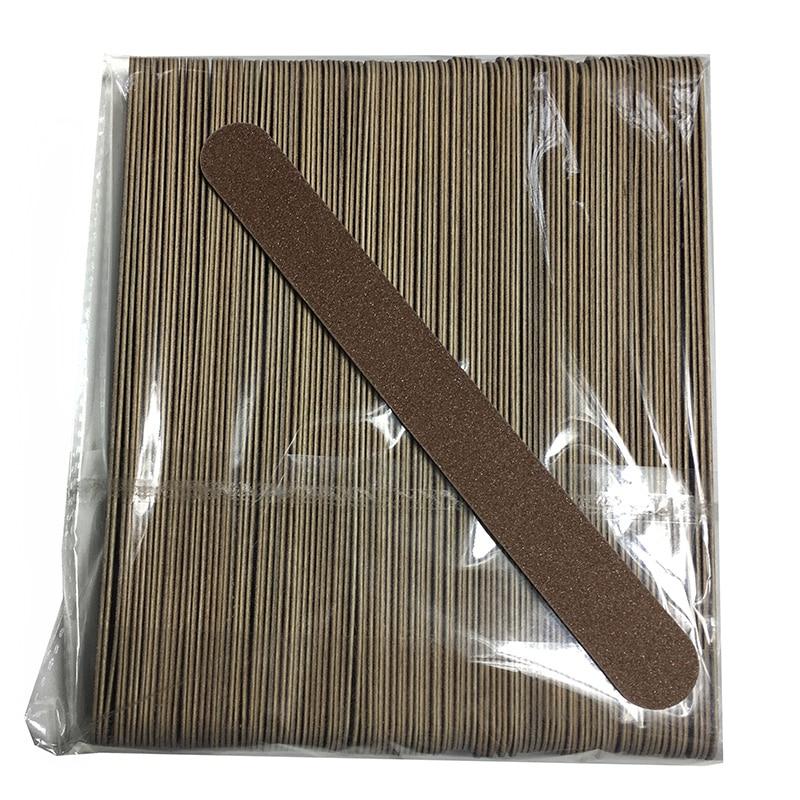 100 pcs new madeira lixas de unha lixa buffers reta 18x2 cm descartaveis removedor de cuticula
