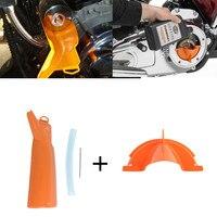 Оранжевый аксессуары для мотоциклов основной Чехол для залива масла воронка инструмент для 06-17 Dyna 07-2018 Softail Для Harley прогулочный трёхколёсны...
