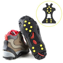 OUTAD 10 Studs Anti-Skid Ice Crampons Snow Shoe Spikes Thermoplastic Elastomer Climbing Grips Cleats Over Shoes Covers(China)