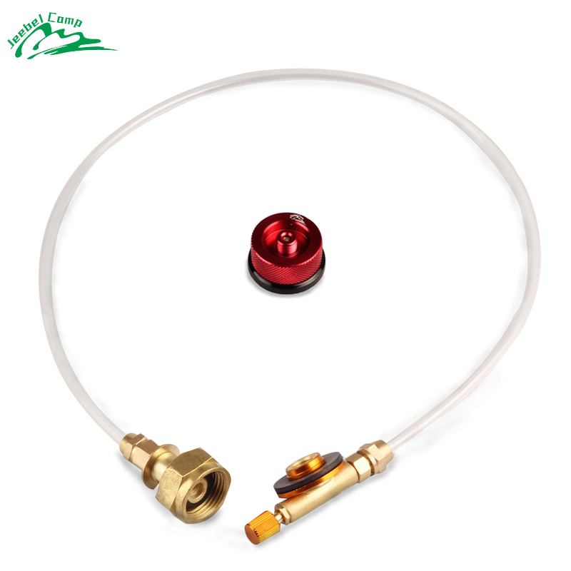 Jeebel Outdoor Gas Stove Camping Stove Propane Refill Adapter Burner LPG Flat Cylinder tank Coupler Bottle Adapter Save