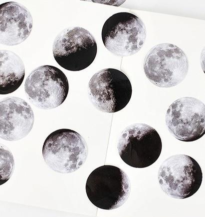 45 st / Box Moon Foton Mini Paper Seal Sticker Skrapbook Notebook - Block och anteckningsböcker - Foto 3