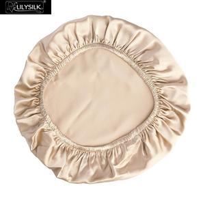 Image 5 - LilySilk casquette de nuit en soie, Bonnet de couchage pour cheveux bouclés, housse de nuit naturelle, 19 têtes pour maman, café blanc, taille unique, livraison gratuite