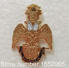 Free shipping 1pcs Freemason 33rd Degree Lapel Pin badge
