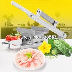 XF287 rvs handleiding Bevroren vlees snijmachine, handvat vlees snijmachine, Groente snijmachine, Schapenvlees rolls machine